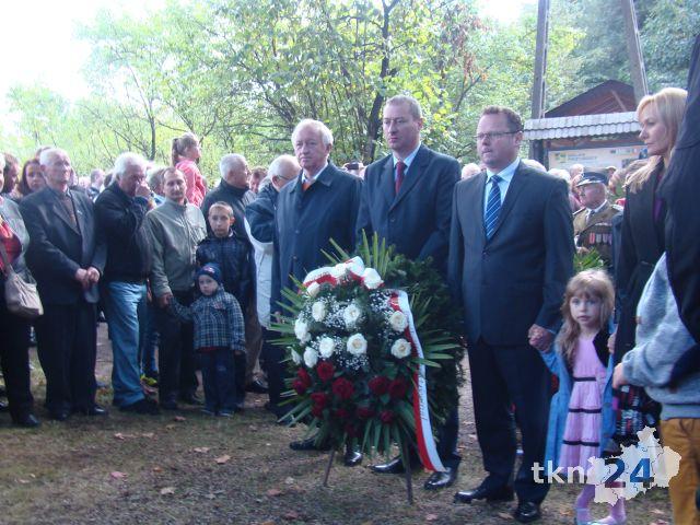 Andrzej Szejna na uroczystości przyjechał z żoną i córką.