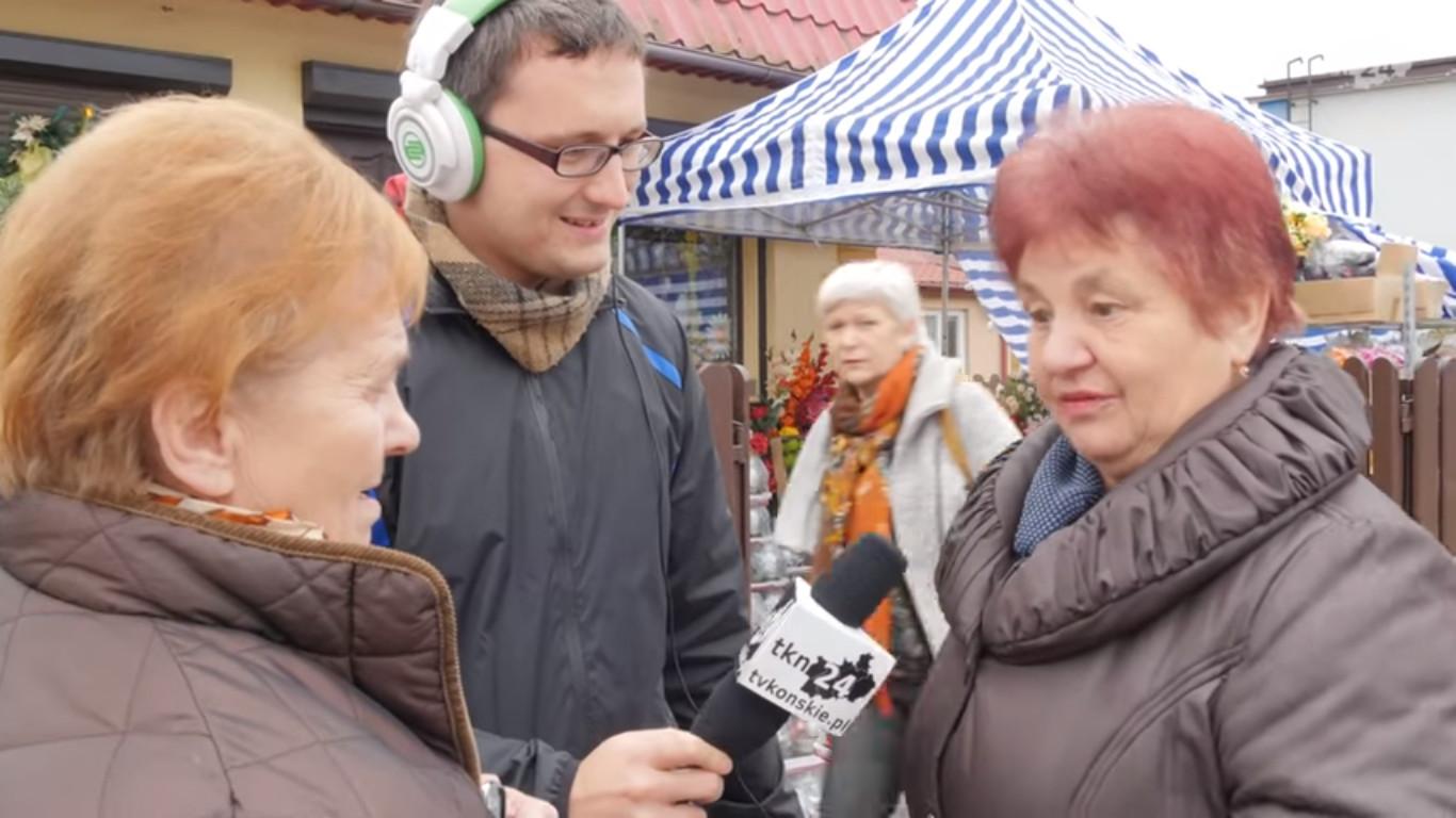 Mieszkanki Stąporkowa przed naszą kamerą wzajemnie zachęcały się do głosowania.