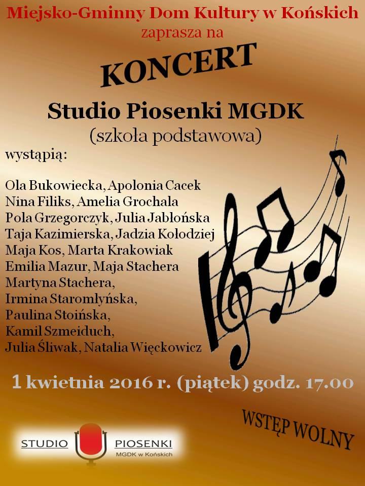 Koncert studio piosenki MGDK