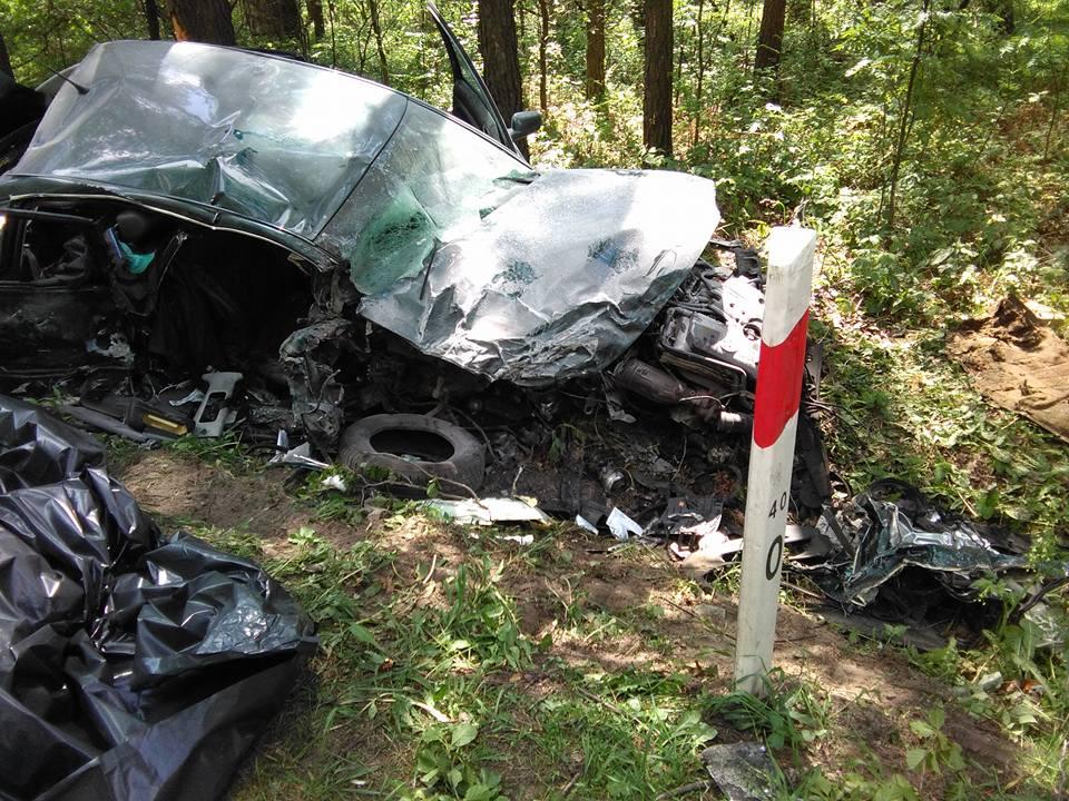 Tak po zderzeniu wyglądał Volkswagen Passat.