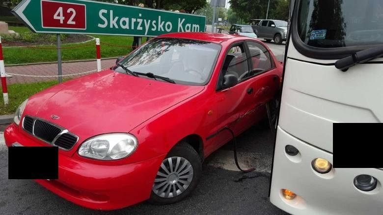 Zderzenie autobusu z daewoo 3