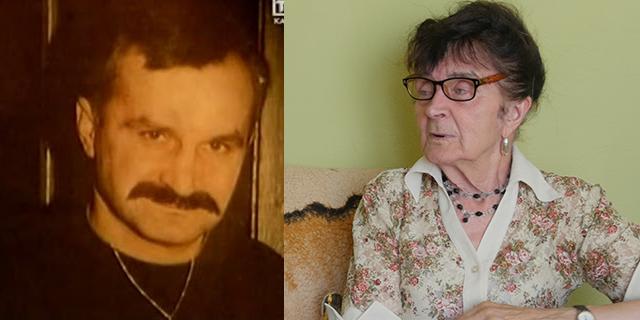 Z lewej Zdzisław Najmrodzki. Z prawej jego matka - Sabina Najmrodzka.