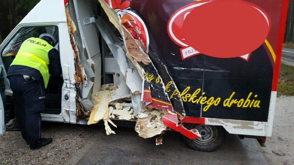 Wypadek w okolicach miejscowości Podlesie 3