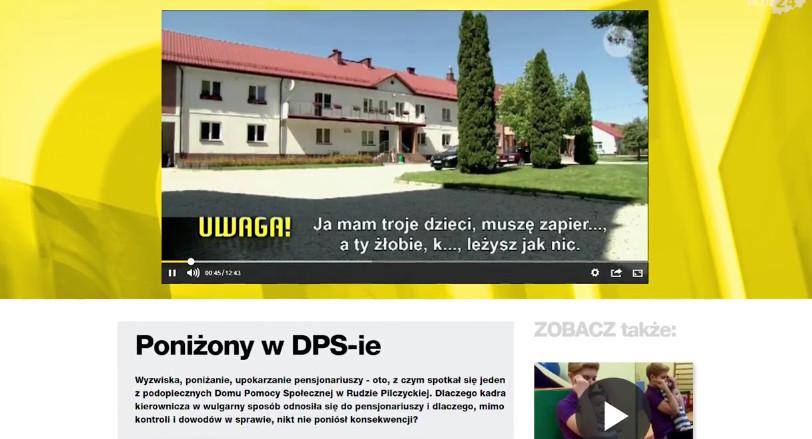 """Domem Pomocy Społecznej """"Etola"""" zajęli się także dziennikarze tvn'owskiej Uwagi"""