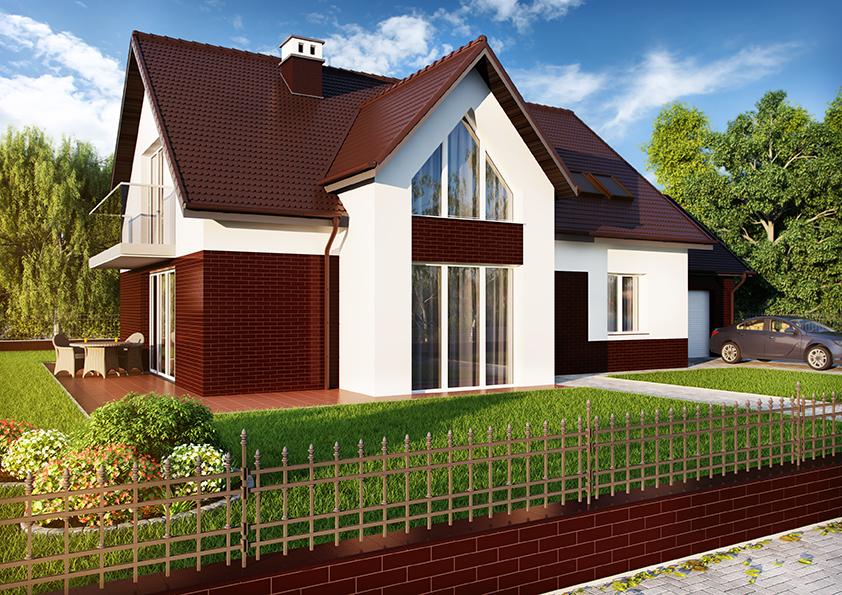 dom wykończony kolekcją cerrad wiśniowa